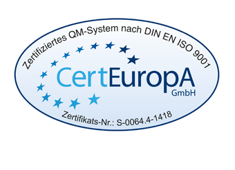 ISO 9001 Zertifikat KFO Pfleiderer und Steding